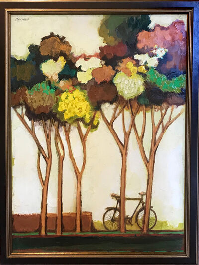 David Adickes, 'Spring Trees with Bike ', 2017
