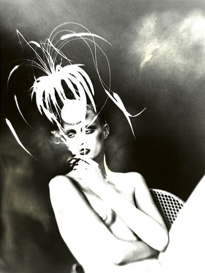 Lillian Bassman, 'Kronung Des Chic, Model Unknown, Hat by Philipp Treacy, Vogue Germany (Untitled 151)', 1998