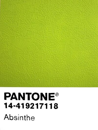 Cayla Birk., 'Birktone Series: Absinthe (Pantone 14-419217118)', 2018