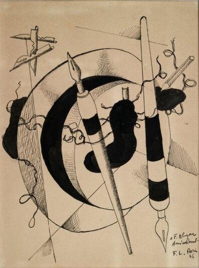 Fernand Léger, 'Composition aux porte plumes et crayon ', 1946