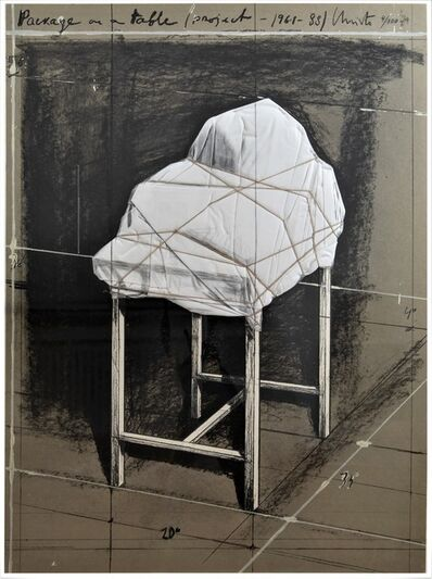 Christo and Jeanne-Claude, 'Package on a Table, Project ', 1989