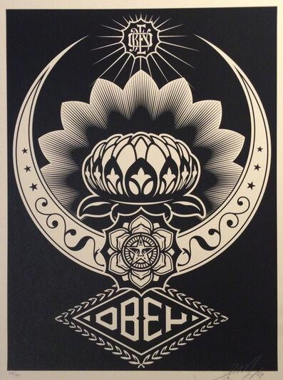Shepard Fairey, 'Lotus Ornament Black', 2008