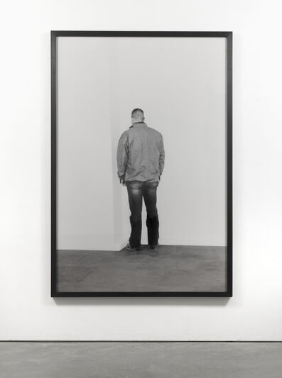 Santiago Sierra, 'Person facing into a corner, Lisson Gallery, London, October 2002', 2002