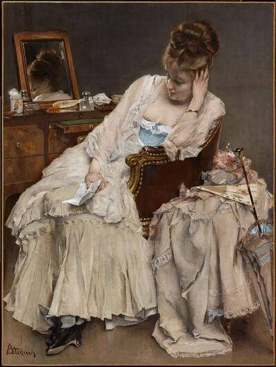 Alfred Stevens, 'Memories and Regrets', ca. 1874