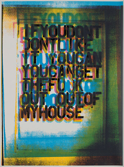 Christopher Wool, 'My House III', 2000