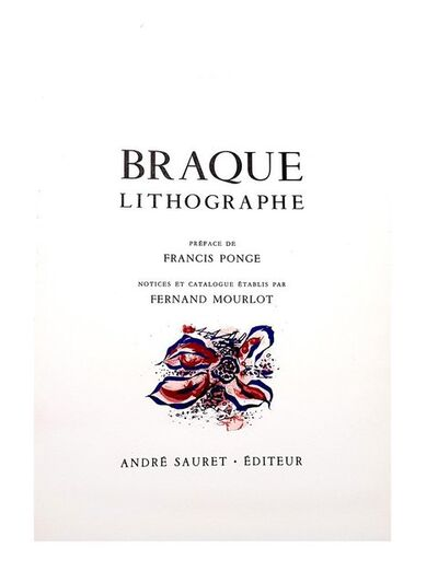 Georges Braque, 'Georges Braque - Flowers I - Original Lithograph', 1963