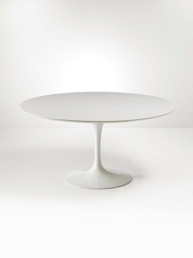 Eero Saarinen, 'A table with a molten lacquered aluminum base and a laquered wood top', 1970 ca.