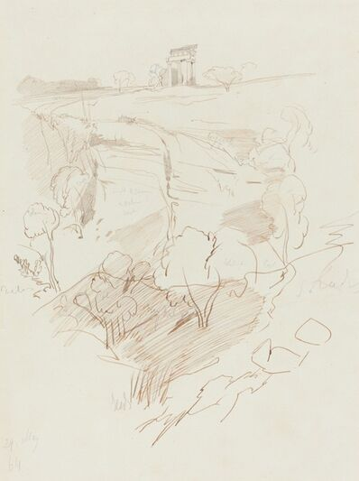 Edward Lear, 'Ruined Temple on a Hill', 1864