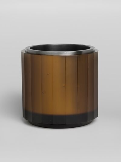 Anna Dickinson, 'Amber faceted vessel with stainless and mild steel liner', 2010