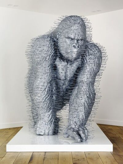 David Mach, 'Silver Back', 2007-2008