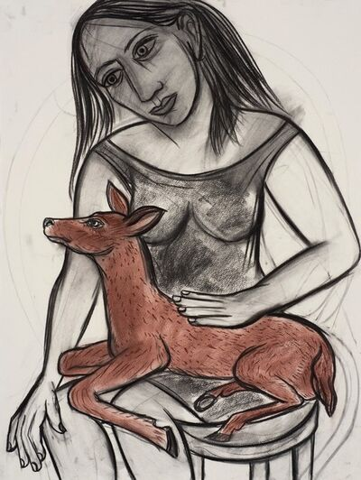Eileen Cooper, 'Woman with deer', 2016