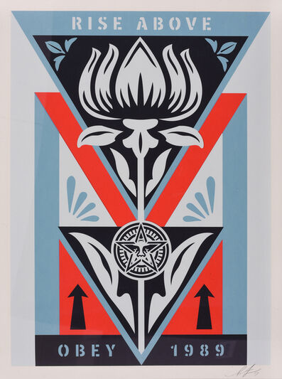 Shepard Fairey, 'Deco Flower (Blue)', 2019