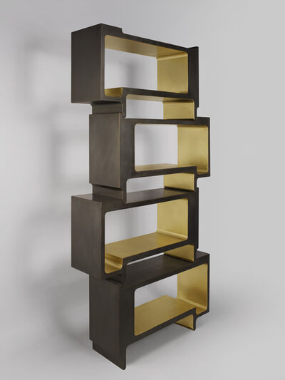 Studio MVW, ''Xiangsheng II Shelving Unit', a Modular Bronze Bookcase and Room Divider', 2017