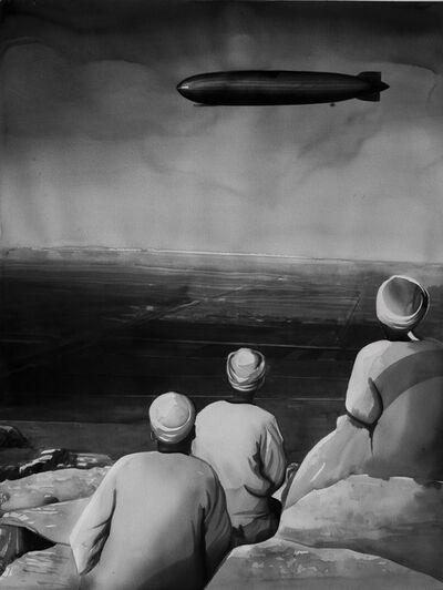 Radenko Milak, 'Graf Zeppelin over Giza pyramids, 1931', 2019