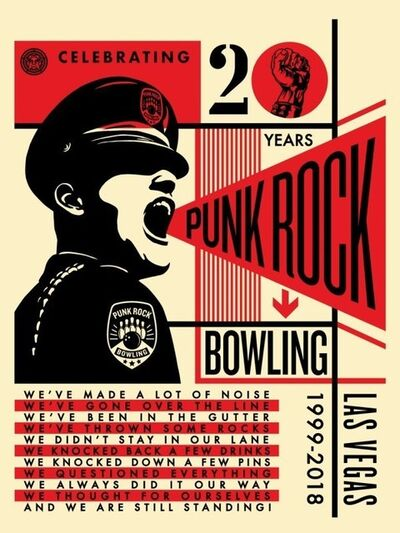 Shepard Fairey (OBEY), 'Punk Rock Bowling', 2018
