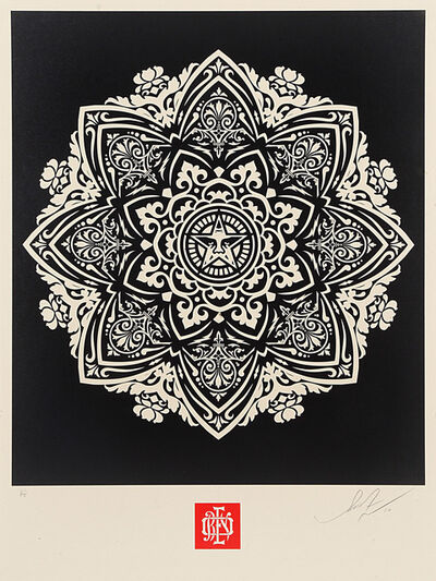 Shepard Fairey, 'Mandala 1 - Black', 2010