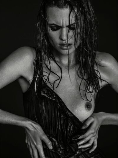 Russell James, 'Behati Wet Black Dress Portrait', 2013