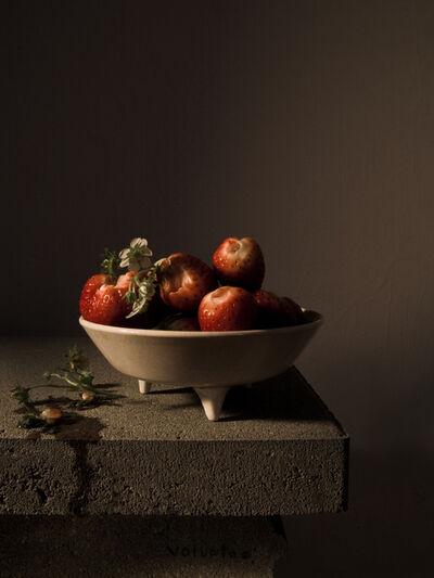 Carina Linge, 'Stillleben mit Erdbeeren (Voluptas, Monodram No. 1)', 2014