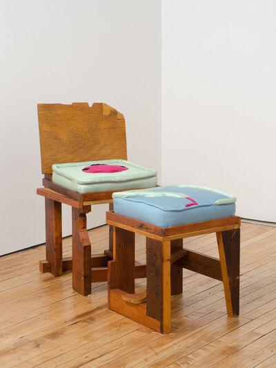 Chris Johanson, 'Snake and Killroy (chair) Holding a Dying Star (ottoman) ', 2014