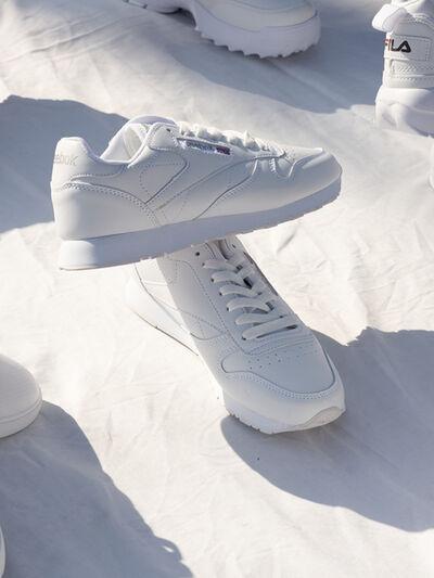 Aleix Plademunt, 'Two shoes displayed', 2019
