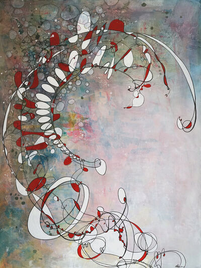 Sherry Tseng Hill, 'The Evolving Nature of Things - abstract, contemporary, science, organic, movement, lines, spatial, soft & hard', 2018