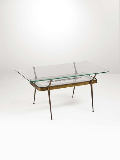 Cesare Lacca, 'A low table with a brass structure', 1950 ca.