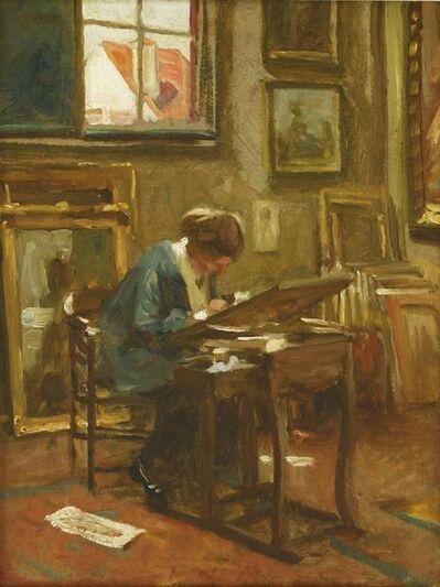 Charles Burleigh, 'AVERIL BURLEIGH SKETCHING IN HER STUDIO'