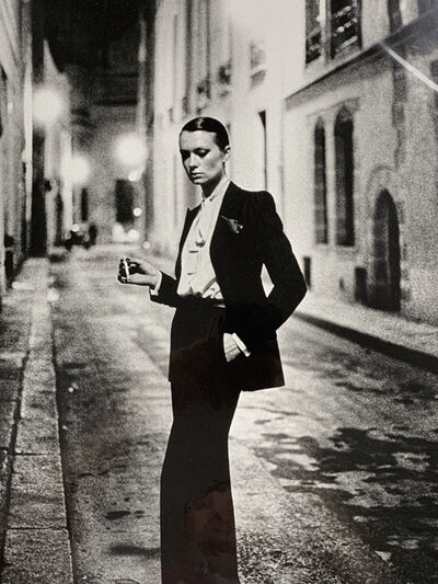 Helmut Newton, 'Rue Aubriot, Paris (signed)', 1975