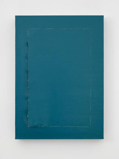 Angela de la Cruz, 'Peel (Turquoise)', 2018