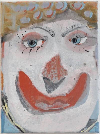 Pieter Jennes, 'small self-portrait as a clown', 2019