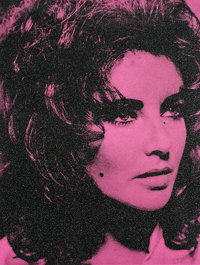 Russell Young, 'Elizabeth Taylor (Electric Pink) AI2017', 2017