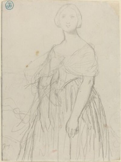 Jean-Auguste-Dominique Ingres, 'Sketch for Madame Moitessier'