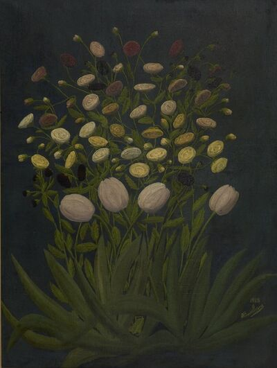 André Bauchant, 'Tulips and Buttercups', 1928