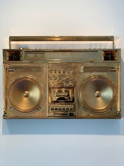 Lyle Owerko, 'Gold Boombox Sculpture', 2019