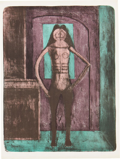 Rufino Tamayo, 'Mujer con Mallas Negras (Woman with Black Stockings), from Mujeres (Women) (P. 111)', 1969