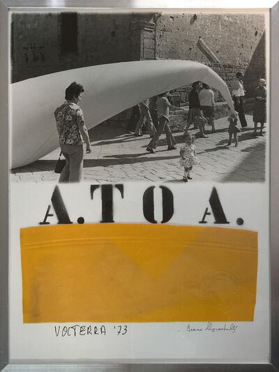 Franco Mazzucchelli, 'A.TO A. 020 - Volterra. Piazza dei Priori', 1973
