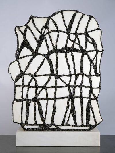 Pietro Consagra, 'Bianco Macedonia e scaglie di Ossidiana', 1989