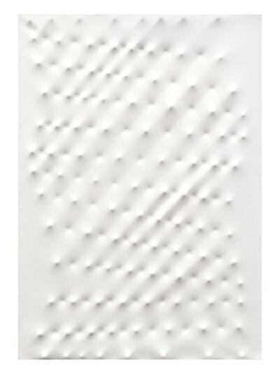 Enrico Castellani, 'Superficie bianca', 1993