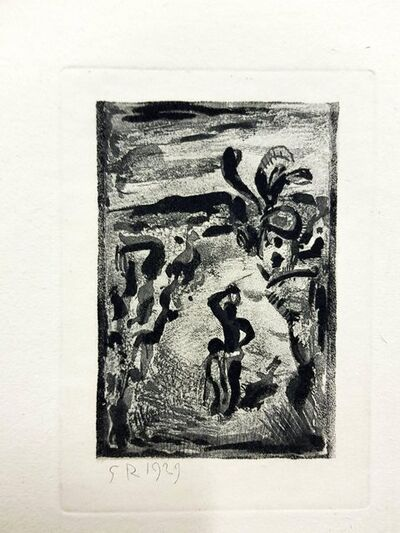 "Georges Rouault, 'Original Etching ""Ubu the King XI"" by Georges Rouault', 1955"