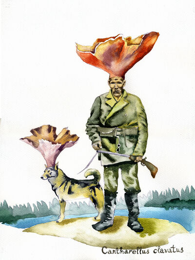 Nikita Shalenny, 'Mushroom-hunter and a Dog', 2016