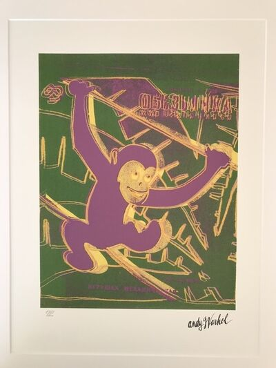 Andy Warhol, 'Monkey', 1986
