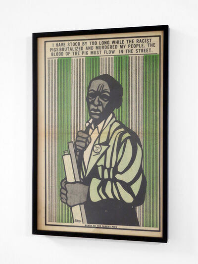 """Emory Douglas, '""""I have stood by too long while the racist pigs brutalized and murdered my people...""""', 1970"""