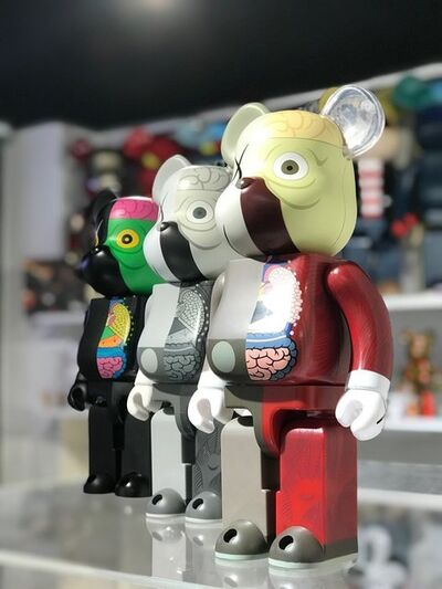 KAWS, 'KAWS BE@RBRICK Dissected Companion 400% set (Set of 3)', 2010