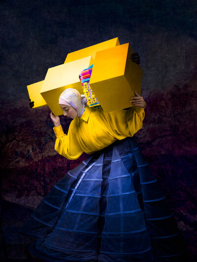 Cooper & Gorfer, 'Israa With Yellow Boxes', 2020