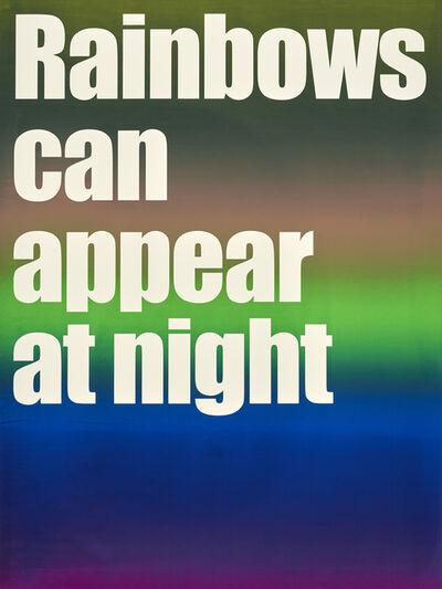Olaf Nicolai, 'Rainbows...', 2017