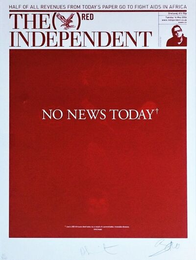 Damien Hirst, 'No News Today', 2008