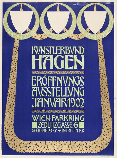 Heinrich Lefler, 'Poster for the Opening Exhibition of the Hagenbund, Vienna', 1902