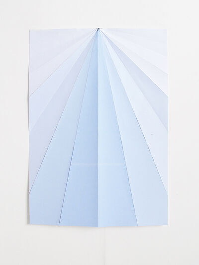 Caline Aoun, 'Blue Paperplane', 2015
