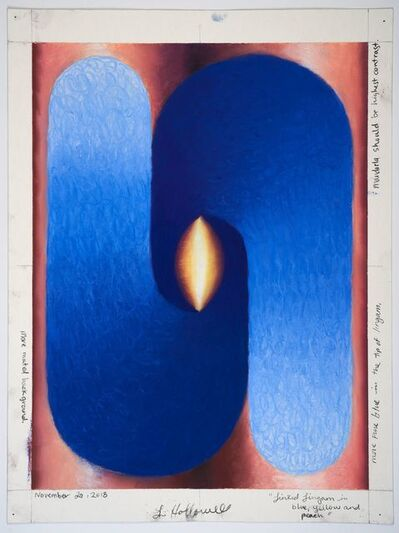 Loie Hollowell, 'Linked Lingam in Blue, Yellow and Peach', 2018