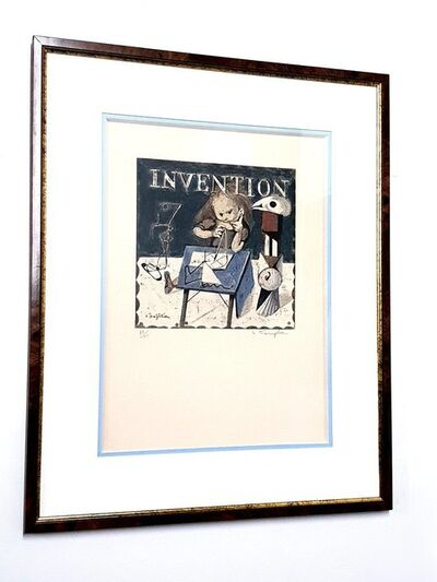 Léonard Tsugouharu Foujita, 'Leonard Foujita - Invention - Original Signed Lithograph', 1963